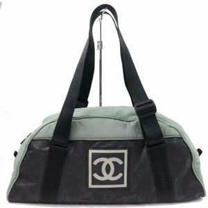 Chanel Jumbo Bicolor CC Logo Sports Duffle Boston